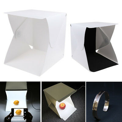 "Light Room Photo Studio 9"" Photography Lighting Tent Kit Backdrop Cube Mini Box!"