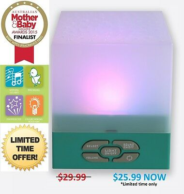 Star Glow Cube - play lullabies - light panel softly changes colour,.