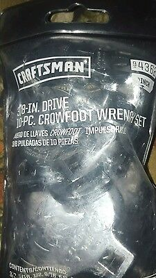 Craftsman Crowfoot Wrench Set 3/8 in. Drive-10 Pc. Set