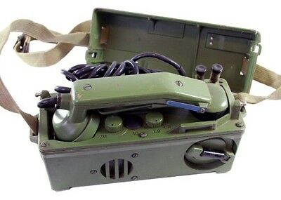 Authentic Military Field Phone Communications For Troops army