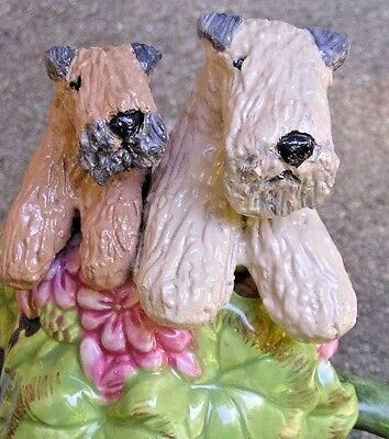 Soft Coated Wheaten Terrier adult & pup Ceramic WATERING CAN!