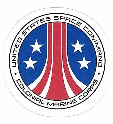 """UNITED STATES SPACE COMMAND COLONIAL MARINE CORPS STICKER ~ Alien AVP Movie 3"""""""