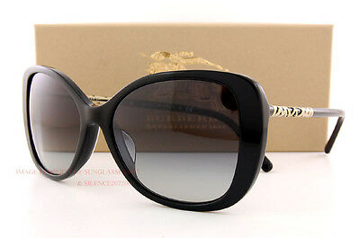 Brand New Burberry Sunglasses BE 4238 3001/8G Black/Grey Gradient For Women