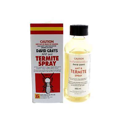 Ant and Termite Spray David Gray 500ml Broad Spectrum Permethrin Wide Range