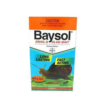 Baysol Snail & Slug Killer Long Lasting Fast Acting Mould Resistant Bayer 600g