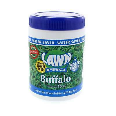 Grass Seed Buffalo Blend Contains Slow Release Fertiliser 500g Lawn Pro