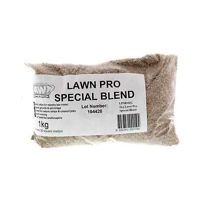 Lawn Pro Special Blend Grass Seed 1kg Covers 35sqm Quick Growth Coverage Tough