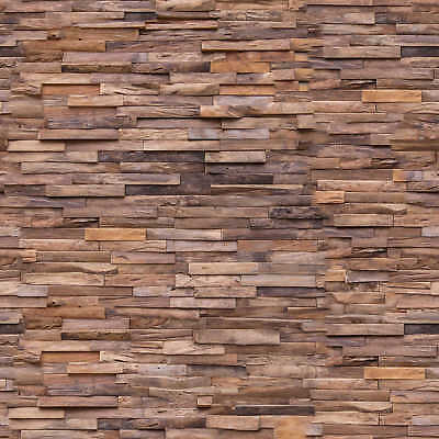 Teak Story Recycled Teak Wall Paneling MERAPI 1 Sq Metre per Box (8 Pieces)