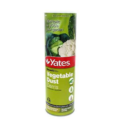 Yates Vegetable Dust Derris Insecticide Kills Caterpillars, Aphids & Thrips 500g