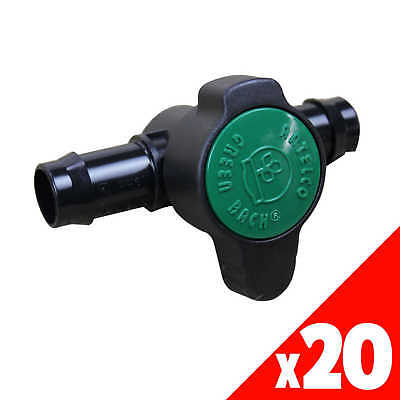 GREEN BACK VALVE 19mm Low Dens. Fittings Garden Water Irrigation 45525 BAG of 20
