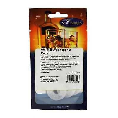 Still Spirits Air Still Washers 10 Pack Home Brew Food Grade Polyethylene Filter