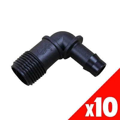 ELBOW Threaded 13mm x 1/2 Inch Male Low Density Poly Fittings 44885 BAG of 10
