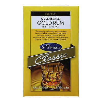 Still Spirits QUEENSLAND GOLD RUM 1x38ml Spirit Sachet Makes 2.25L Home Brew
