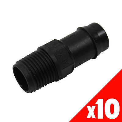 DIRECTOR 19mm x 1/2 Inch Poly Male Garden Water Irrigation 45285 BAG of 10