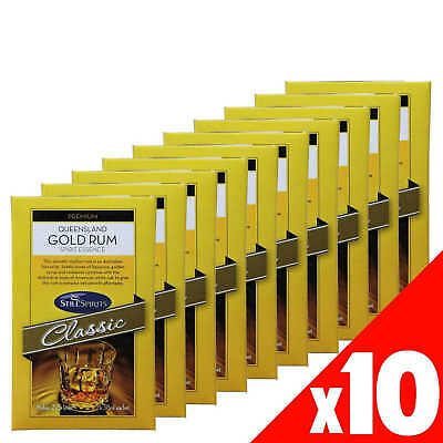 Still Spirits QUEENSLAND GOLD RUM 1x38ml Sachet Makes 2.25L 10 Pack Home Brew