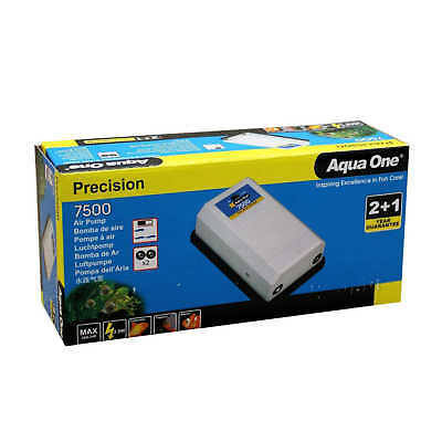 Precision 7500 Aquarium Air Pump 10070 Fish Tank Aqua One