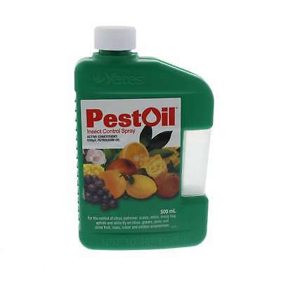 Pest Oil Control Citrus Leafminer Scale Mealy Bug etc Concentrate Yates 500ml