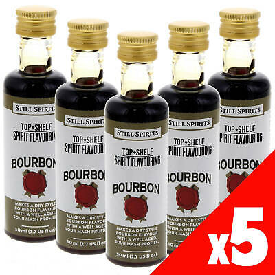 Still Spirits Top Shelf BOURBON Essence x5 50ml Spirit Making Home Brew