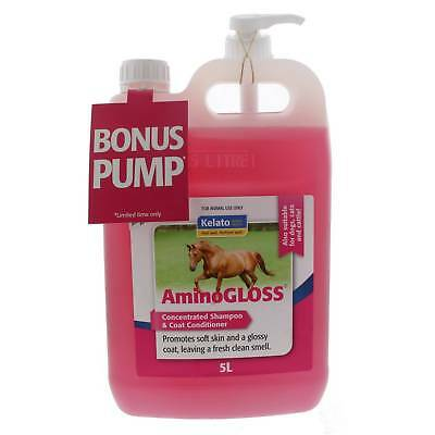 Aminogloss Coat Treatment and Concentrated Shampoo Kelato Horse Equine 5L