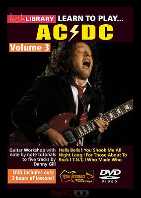 Learn Ac/dc 5 Songs Note-For-Note Lick Library Acdc Volume 3 Best Price Free P+H