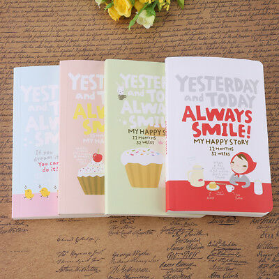 Cute Diary Notebook Lovely Girl Agenda Weekly Planner Journal Record Gifts AF