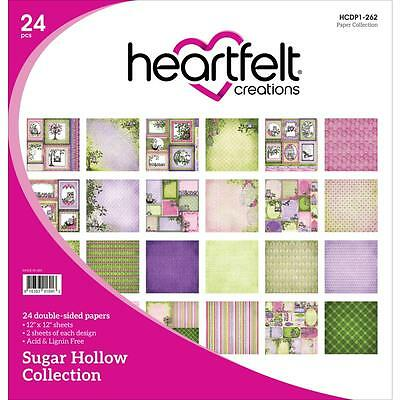 "Heartfelt Creations Sugar Hollow Double-Sided Paper Pad 12""X12"" 24/Pkg Eulen"