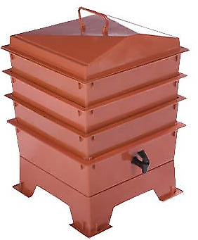 Terracotta Red TIGER RAINBOW STANDARD WORMERY 3 x Stacking Trays COMPOST BIN New