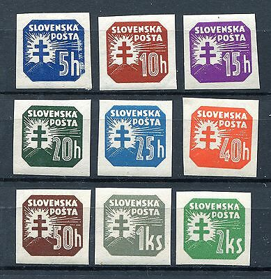 Slovakia Ww2 German Puppet State 1940 P20-P30 Perfect Mnh Newspaper Set