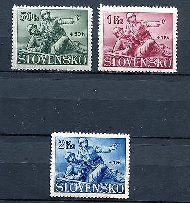 Slovakia Ww2 German Puppet State 1941 B2-4 Red Cross Perfect Mnh