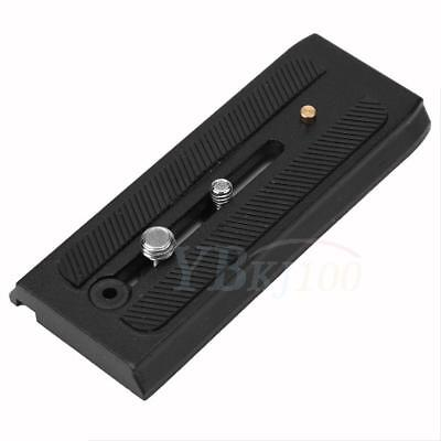 Camera Tripod Quick Release Plate Board Adapter For Manfrotto 500ah 701 577 WD
