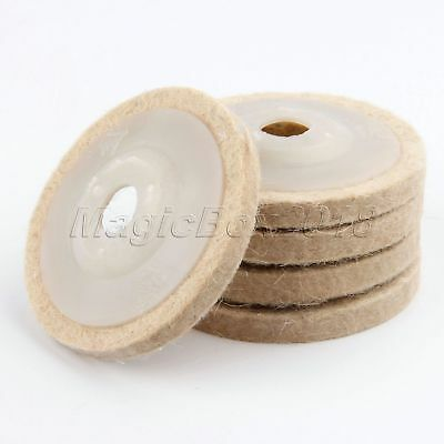 80mm Washable Wool Polishing Wheel Disc Buffing Pad Abrasive For Buffer Polisher