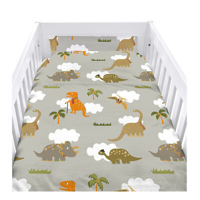 Jurassic Cot Size Duvet Cover Set with Pillow Case Bedding Kids Boys Girls Baby