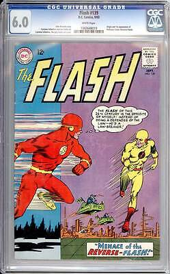 Flash # 139  1st appearance of Professor Zoom !  CGC 6.0 scarce book !