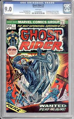 Ghost Rider # 1  Wanted : Dead and Alive !  CGC 9.0 scarce book !