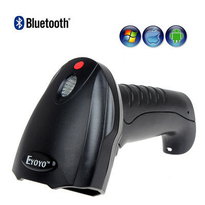Wireless Bluetooth Barcode Scanner Reader For Apple IOS Android Win10 Win7/8 AU