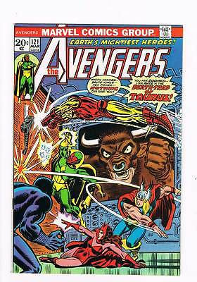 Avengers # 121 Houses Divided Cannot Stand! Taurus ! grade 9.0 scarce book !!