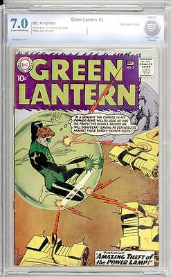 Green Lantern # 3  Amazing Theft of the Power Lamp !  CBCS 7.0 scarce book !