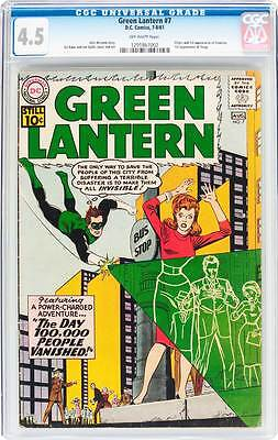 Green Lantern # 7  1st appearance of Sinestro !  CGC 4.5 scarce book !