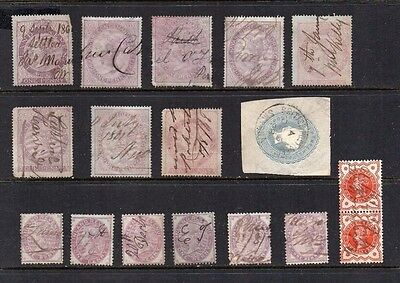 GB QV fiscally used stamps REDUCED