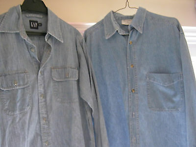 to denim shirts small meduim