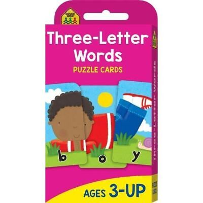 THREE LETTER WORDS Flash Cards Suitable for Ages 3 - Up Kids Learning Hinkler