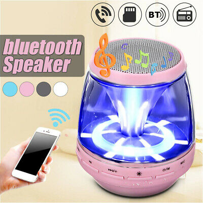 Portable LED Stereo Bluetooth Speaker Wireless Bass For Smartphone Tablet PC USA