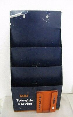 Vintage Gulf Metal Tourguide Service Map Rack