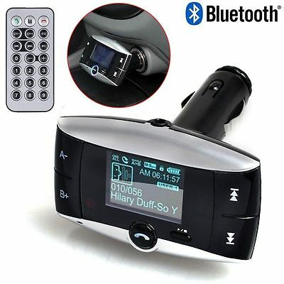 "Bluetooth Car MP3 Kit Handsfree FM Transmitter With 1.5""LCD Display & Remote"