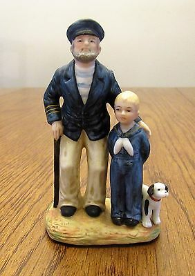 """Norman Rockwell """"Looking Out to Sea"""" Figurine Issued 1983 - 4"""" Tall"""