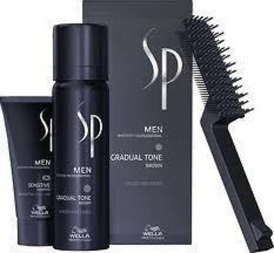 6 X Wella SP Men Gradual Tone 60 ml braun brown Pigment Mousse + 30 ml Shampoo