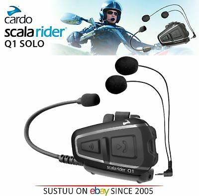 Cardo Scala Q1 Motorcycle Bluetooth Intercom Headset GPS MP3 FM Rider-Passenger