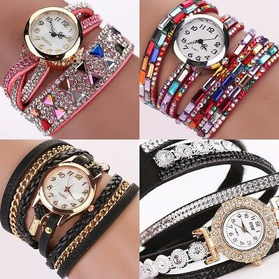 Women Wrist watch with Numbers Bracelet Band Bling & Ethnic Analog Quartz Lady