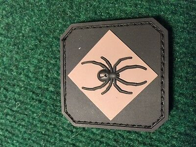 MIL SPEC MONKEY SPIDER BLACK TAN tactical PVC rubber MORALE PATCH