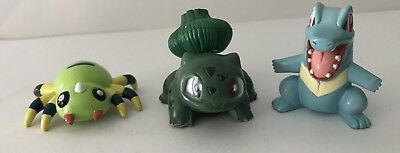 "Pokemon lot of 3 PVC  by Nintendo Tomy 2"" anime Figures"